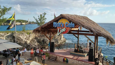 ricks cafe shack on the beach in negril jamaica