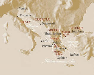 voyages to antiquity map
